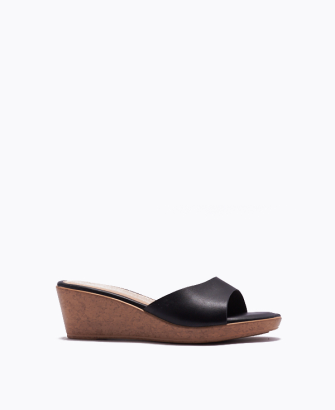 SO OBVIOUS MULE WEDGE SANDALS