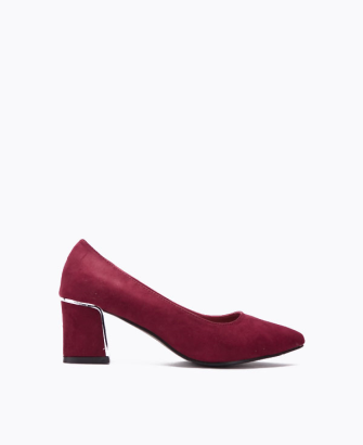 pointed square block heel